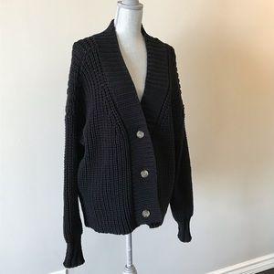 Alexander Wang Black Button Down Cardigan Sz Small